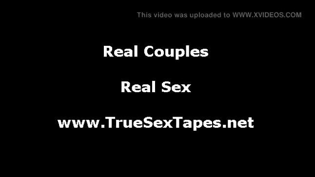Real amateur couple strip in homemade sex tape