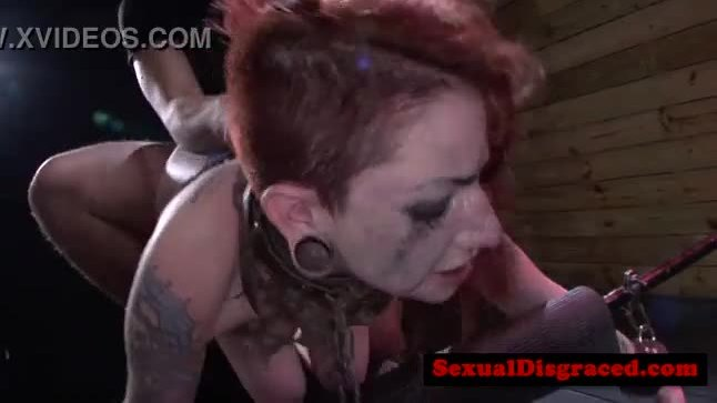 Bondage bdsm ginger babe doggystyle banged