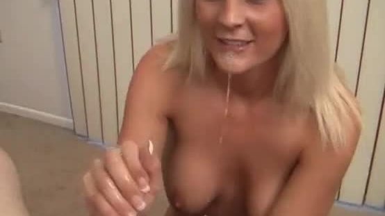 Busty blonde milf fucked and jizzed
